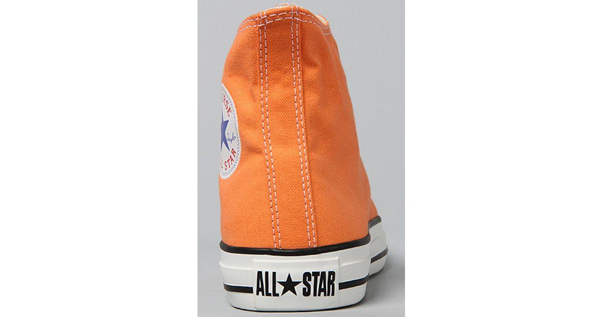 a0a28f9fdaa3 Lyst - Converse The Chuck Taylor All Star Hi Sneaker in Nectarine in Orange