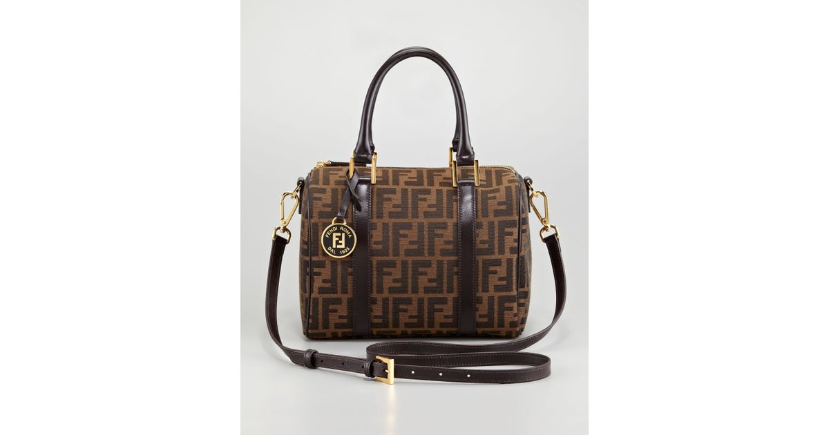 a16d6c446ed5 ... wholesale lyst fendi zucca boston bag medium in brown 3b2b1 18697