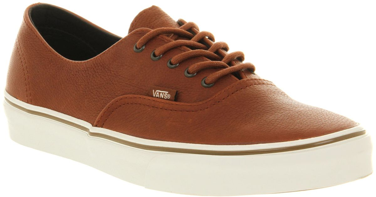 1080708d844c Lyst - Vans Authentic Decon Ca Nature Leather Brown Sugar in Brown for Men