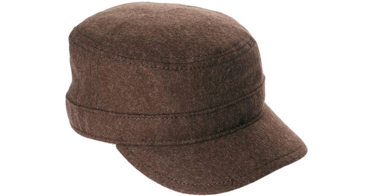 Lyst - Ben Sherman Military Cap in Brown for Men bb97eca4048