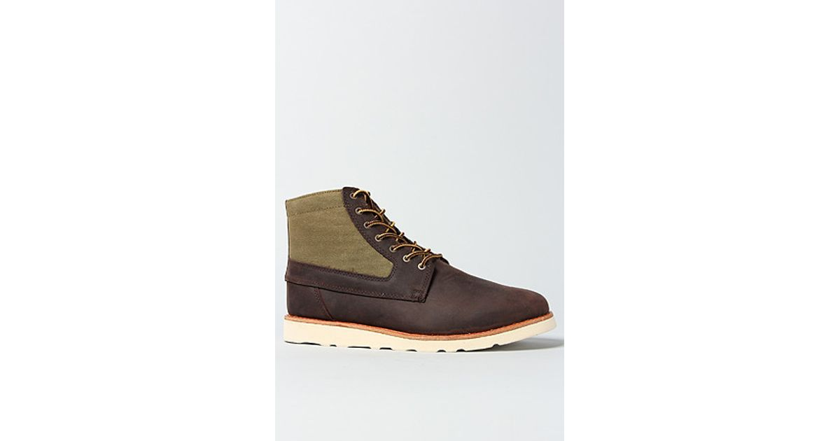 edfa70cc5314e1 Lyst - Vans The Breton Boot in Brown Waxed Canvas in Brown for Men