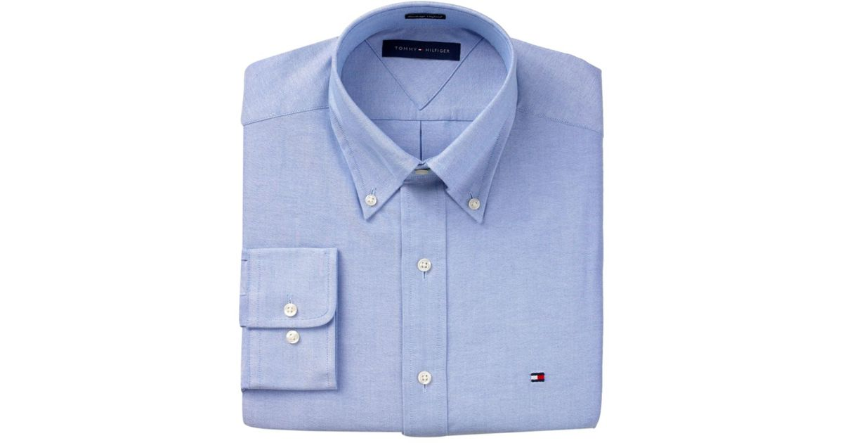 ee52069aa Lyst - Tommy Hilfiger Slim Fit Heritage Oxford Solid Long Sleeve Shirt in  Blue for Men