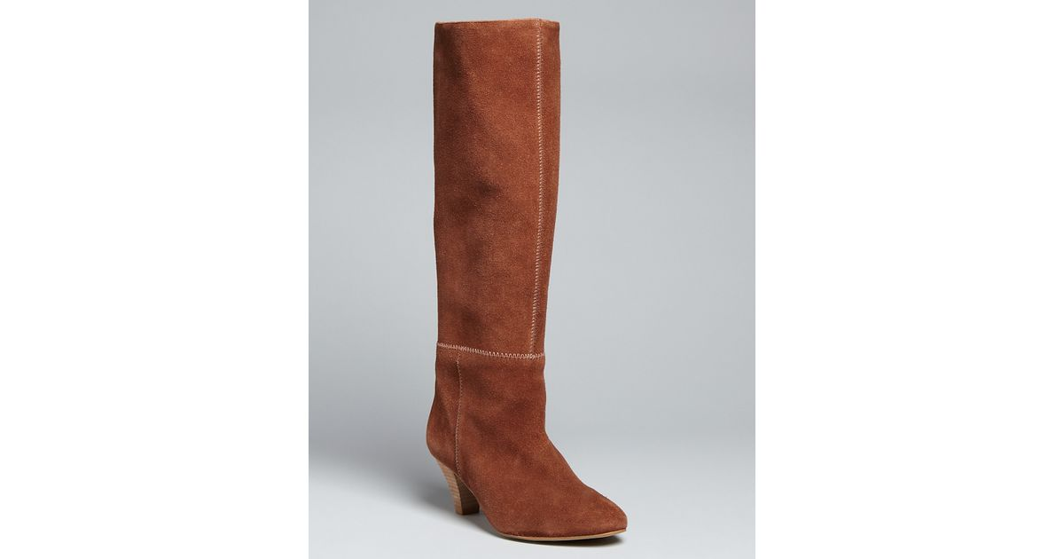 5e225e79b04 Lyst - Cynthia Vincent Tall Pointed Toe Boots Gigi in Brown