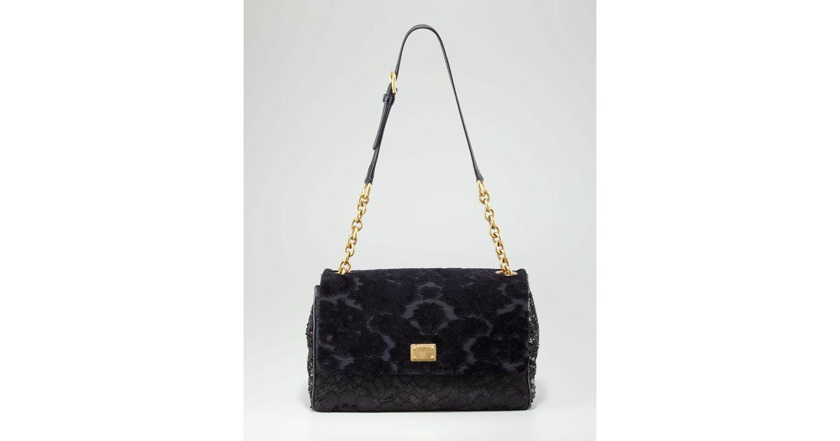 26f9bc385f Lyst - Dolce   Gabbana Miss Kate Mix Media Shoulder Bag in Black
