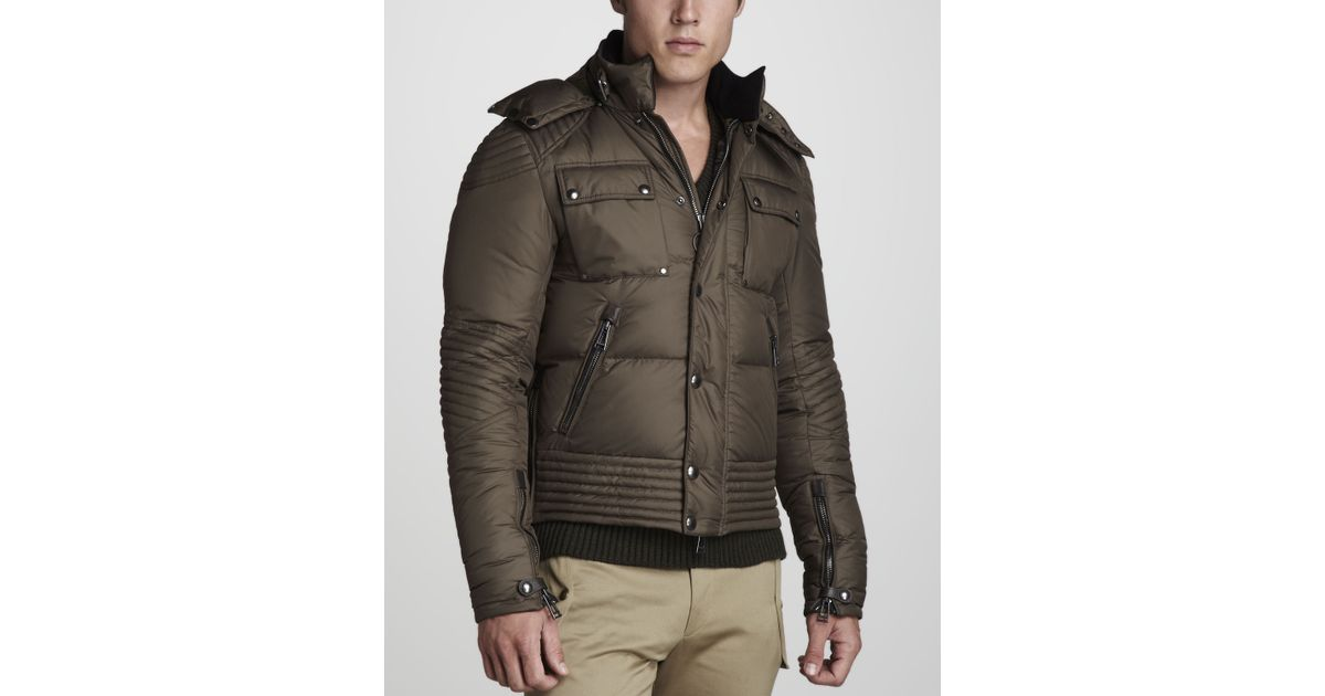 4f7274369db3 Lyst - Belstaff Kaine Puffer Motorcycle Jacket in Brown for Men
