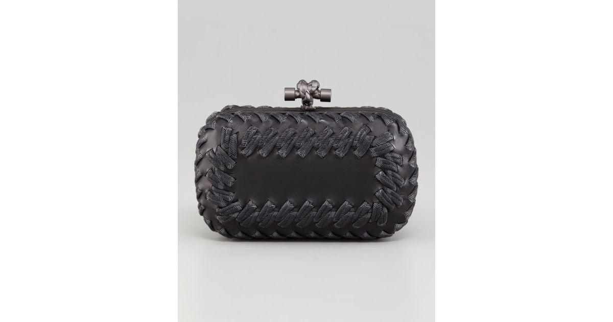 Lyst - Bottega Veneta Passementerie Knot Clutch Bag in Black 1ebe20b8850d1