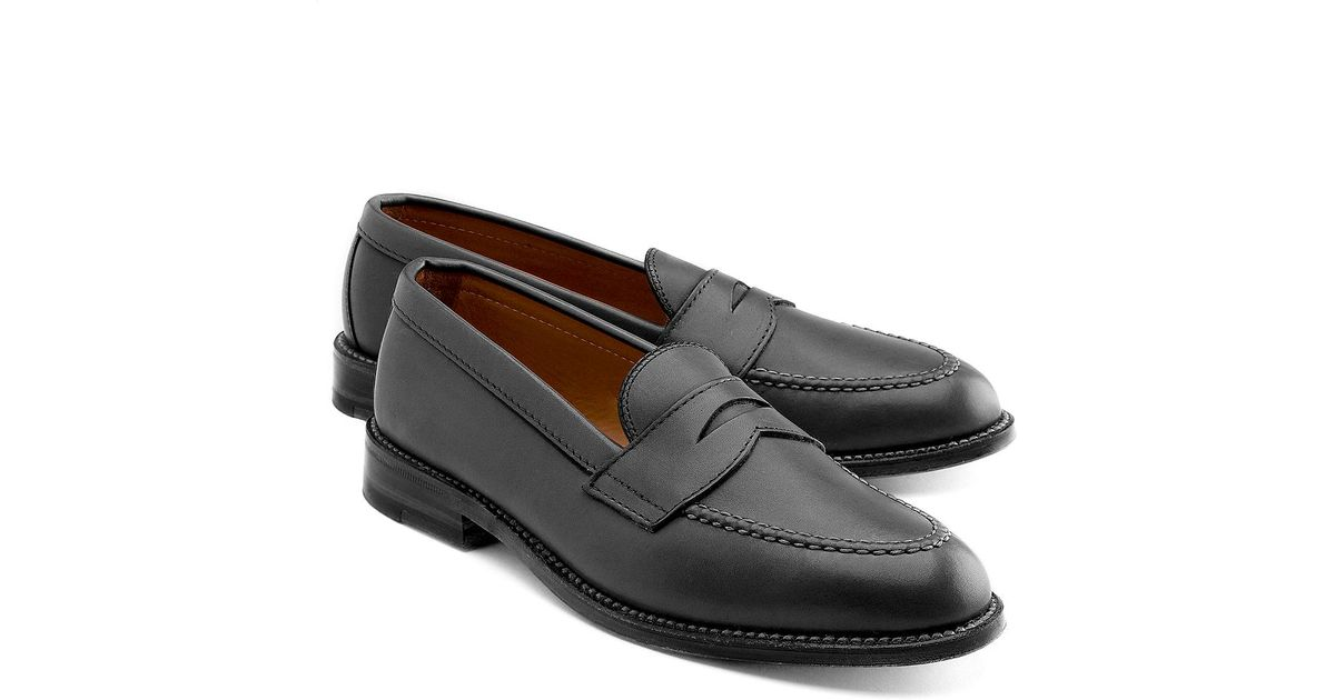 c1095d65291 Lyst - Brooks Brothers Hand Sewn Penny Loafer in Black for Men