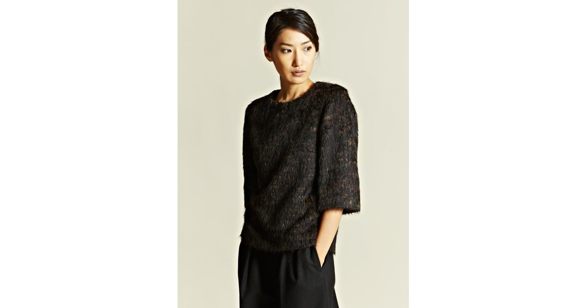 Lyst Dries Van Noten Dries Van Noten Womens Costa Box Top In Black