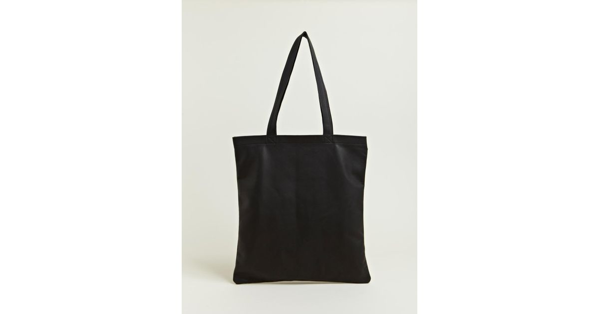 Lyst Isaac Reina Womens Ultra Soft Leather Tote Bag In Black
