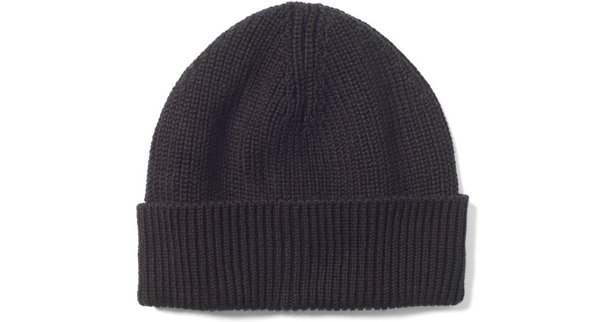 19547b7450e Lyst - Club Monaco Mercenized Knit Hat in Black for Men