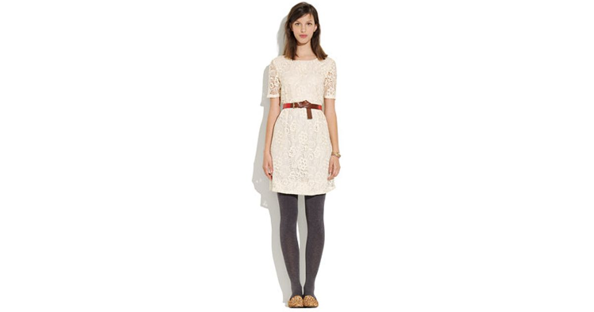 9b224b4648 Lyst - Madewell Serenade Lace Dress in White
