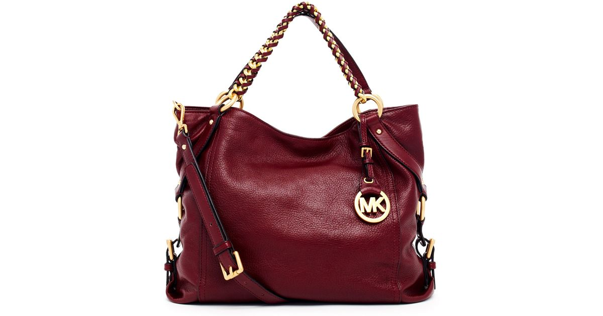 e1b13c37cfb0 ... ireland lyst michael michael kors tristan large shoulder tote in red  a5712 0335e