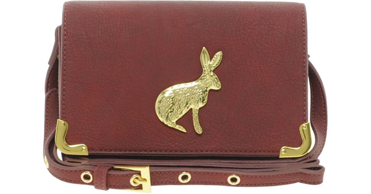 b0f0c012eeb Lyst - ASOS Rabbit Across Body Bag in Red
