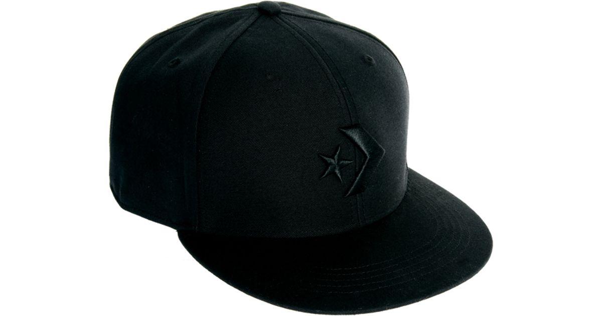 dc2a7c5c Converse Snapback Cap in Black for Men - Lyst