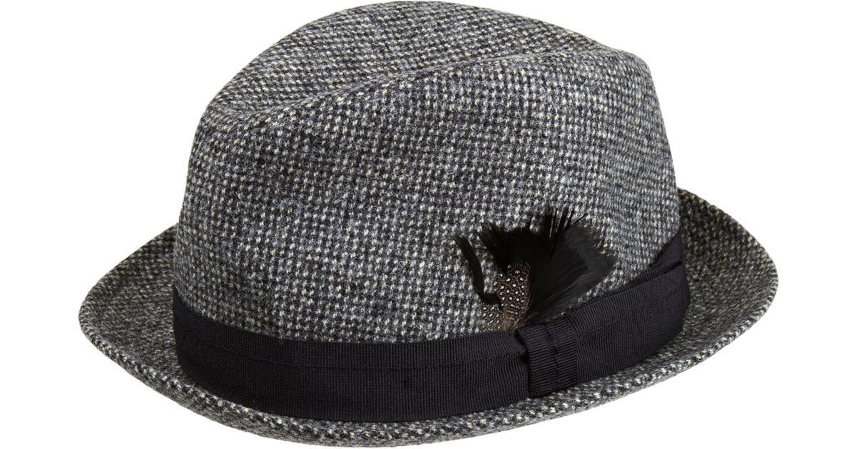 1c54f58ed Paul Smith - Black Tweed Trilby Hat for Men - Lyst