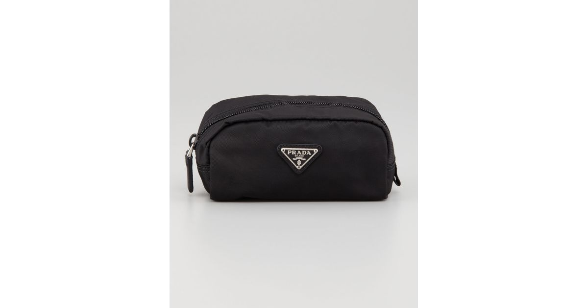 ee3d4e4967 Prada Vela Nylon Cosmetic Case in Black