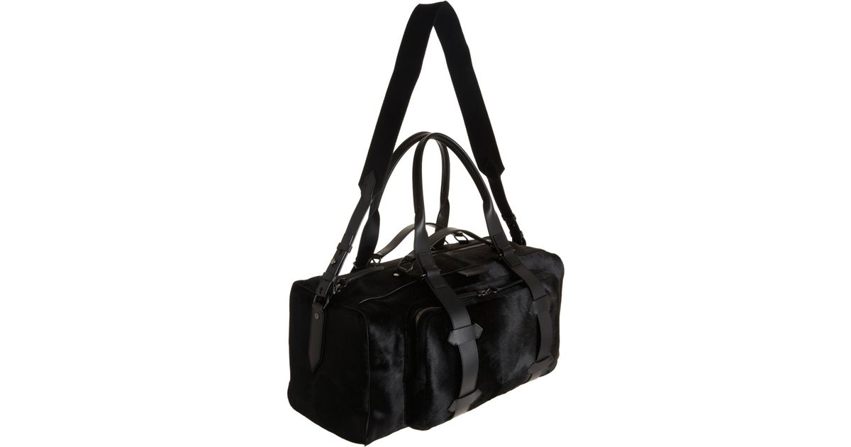 dca70482dfb4 Givenchy Ponyhair Duffel Bag in Black for Men - Lyst