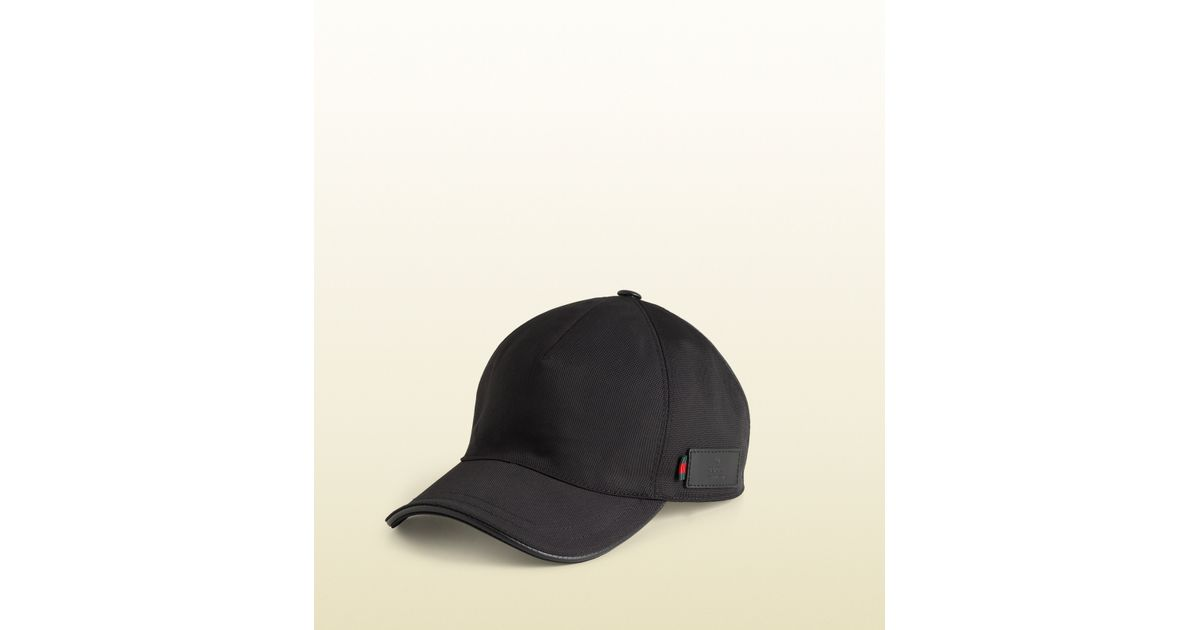 2397ccaa23e50 Lyst - Gucci Baseball Hat with Embossed Gucci Trademark Signature Web in  Blue for Men