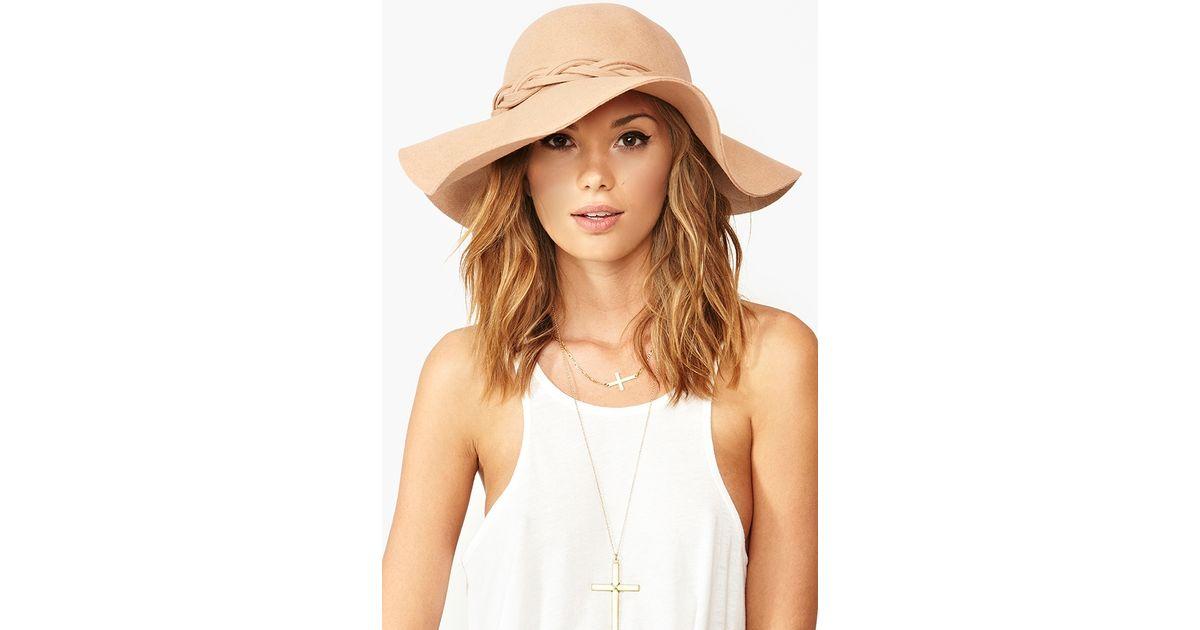 Lyst - Nasty Gal Braided Wool Hat Tan in Brown b41f3e360eb