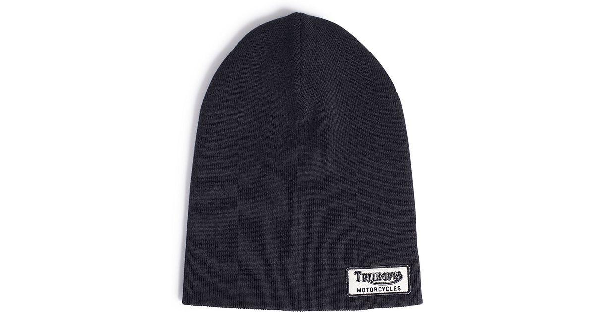 8e44c402f94 Lyst - Lucky Brand Triumph Knit Beanie in Black for Men