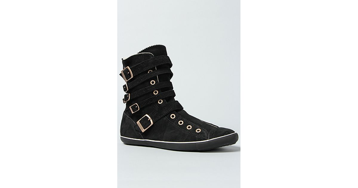 7032e1ce02e0 Lyst - Converse The All Star Light Multi Strap Boot in Black Suede in Black