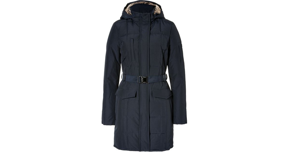 woolrich midnight blue blizzard down parka in black lyst. Black Bedroom Furniture Sets. Home Design Ideas