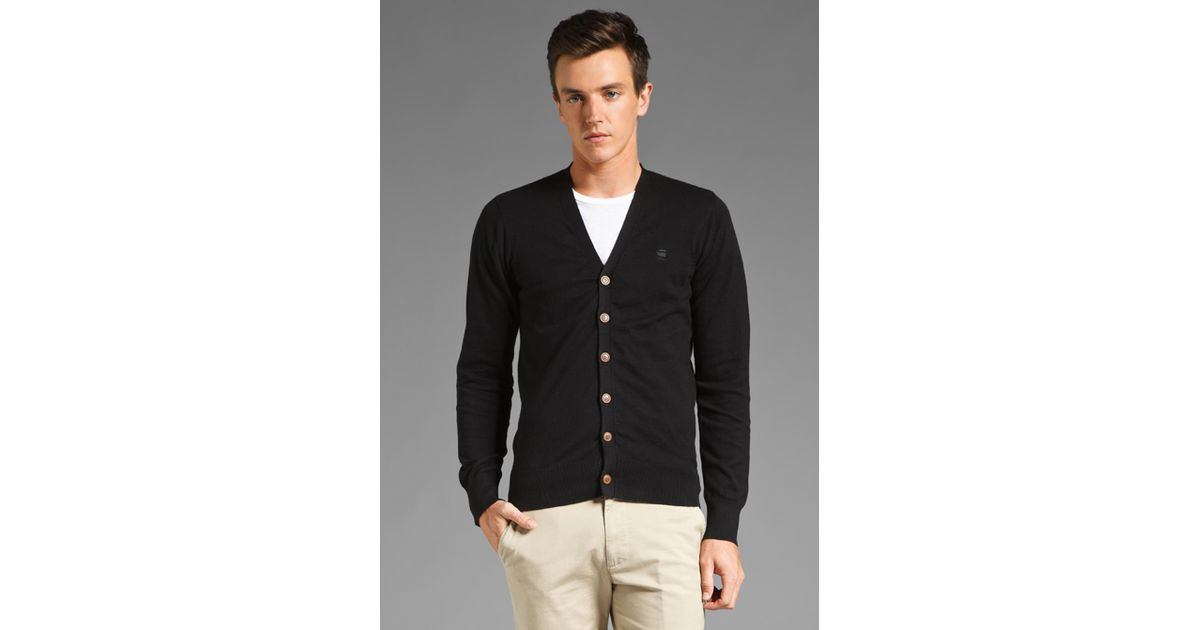 g star raw cl study cardigan in black for men lyst. Black Bedroom Furniture Sets. Home Design Ideas