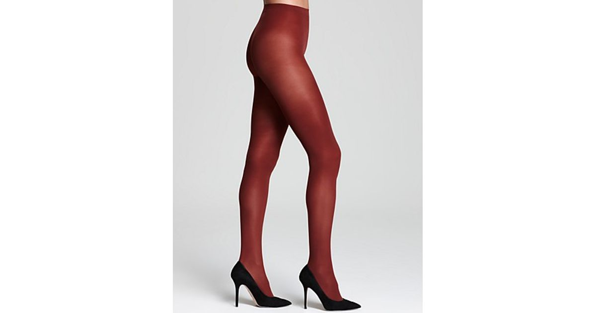 69295e2ac Hue Opaque Tights Sheer To Waist in Red - Lyst