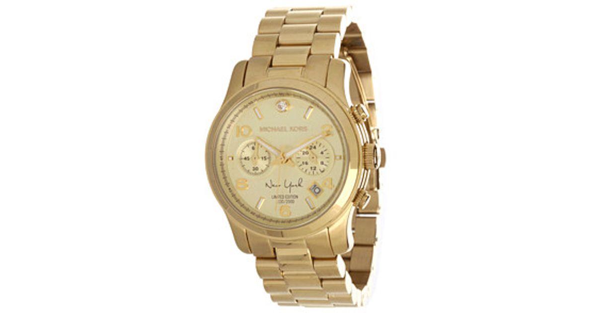 4b6350b40fce Michael Kors. Women s Metallic Limited Edition New York Runway Chronograph  Watch