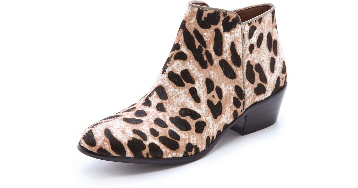 af1f5da655d3 Lyst - Sam Edelman Petty Snow Leopard Booties