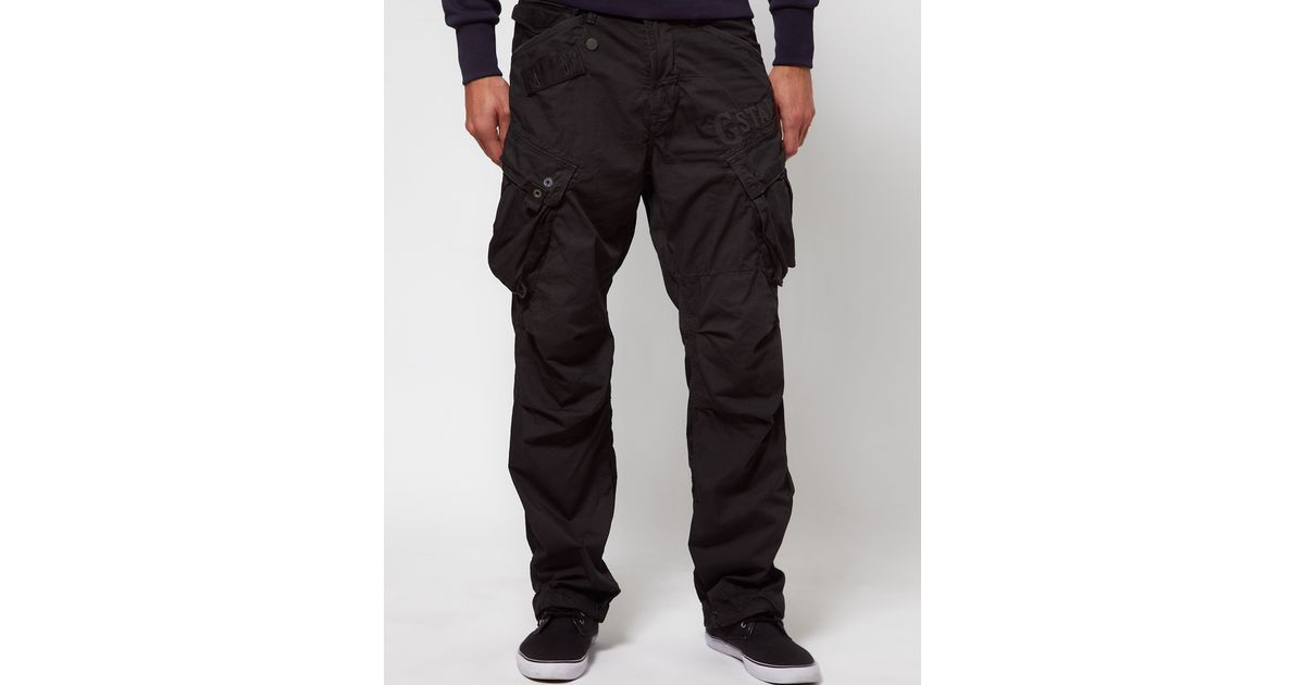 lyst g star raw combat trousers loose fit in black for men. Black Bedroom Furniture Sets. Home Design Ideas