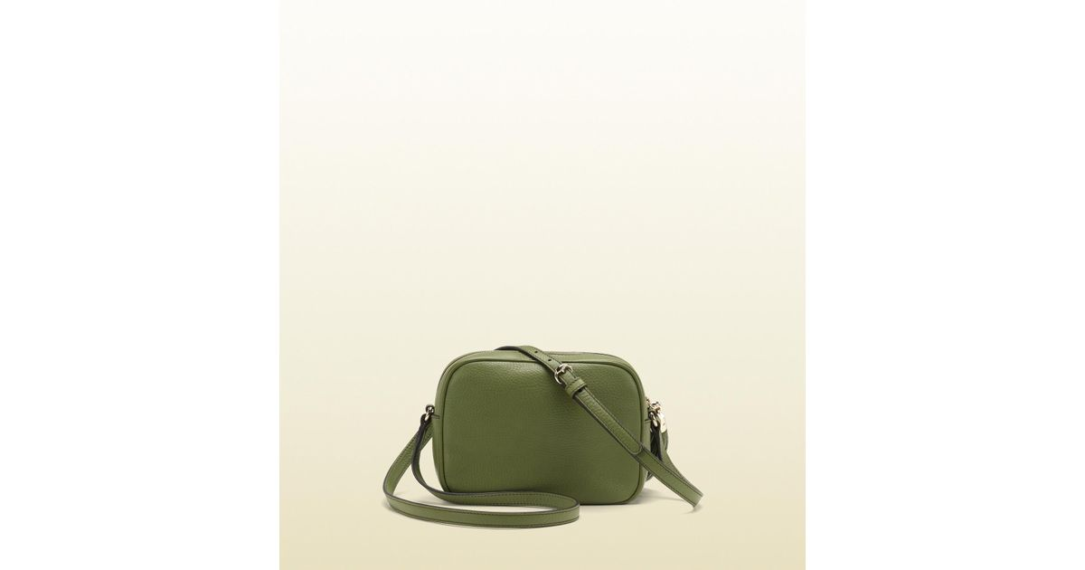 35bab9fa2920 Lyst - Gucci Soho Green Leather Disco Bag in Green