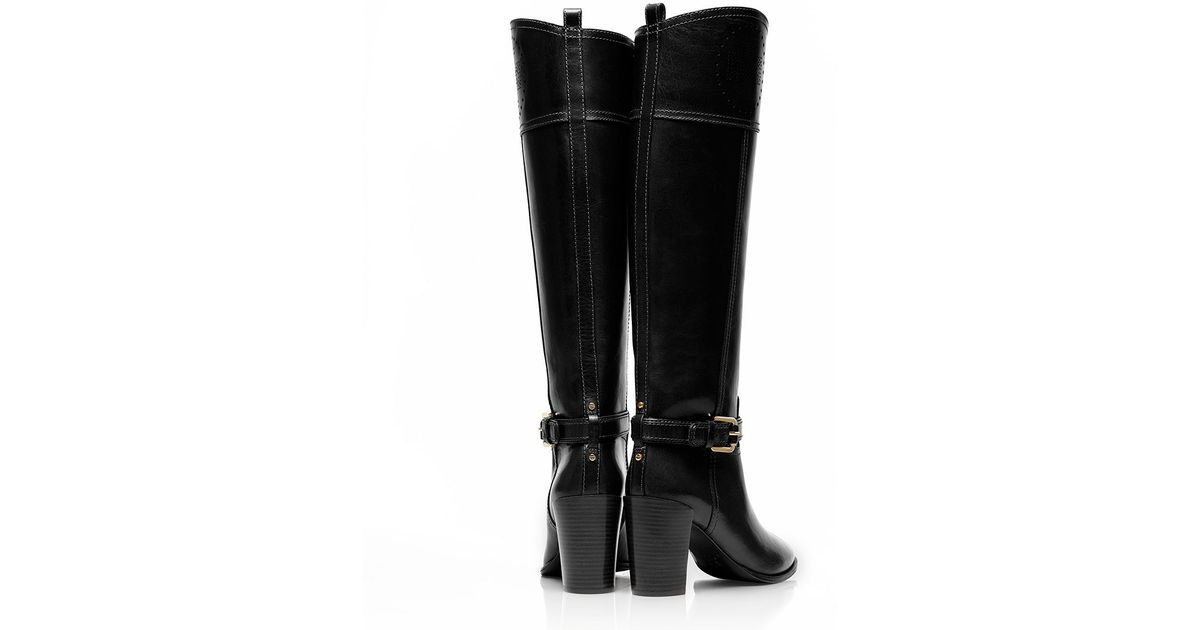 8ce59c5a6f8f Lyst - Tory Burch Daniela High Heeled Riding Boot in Black