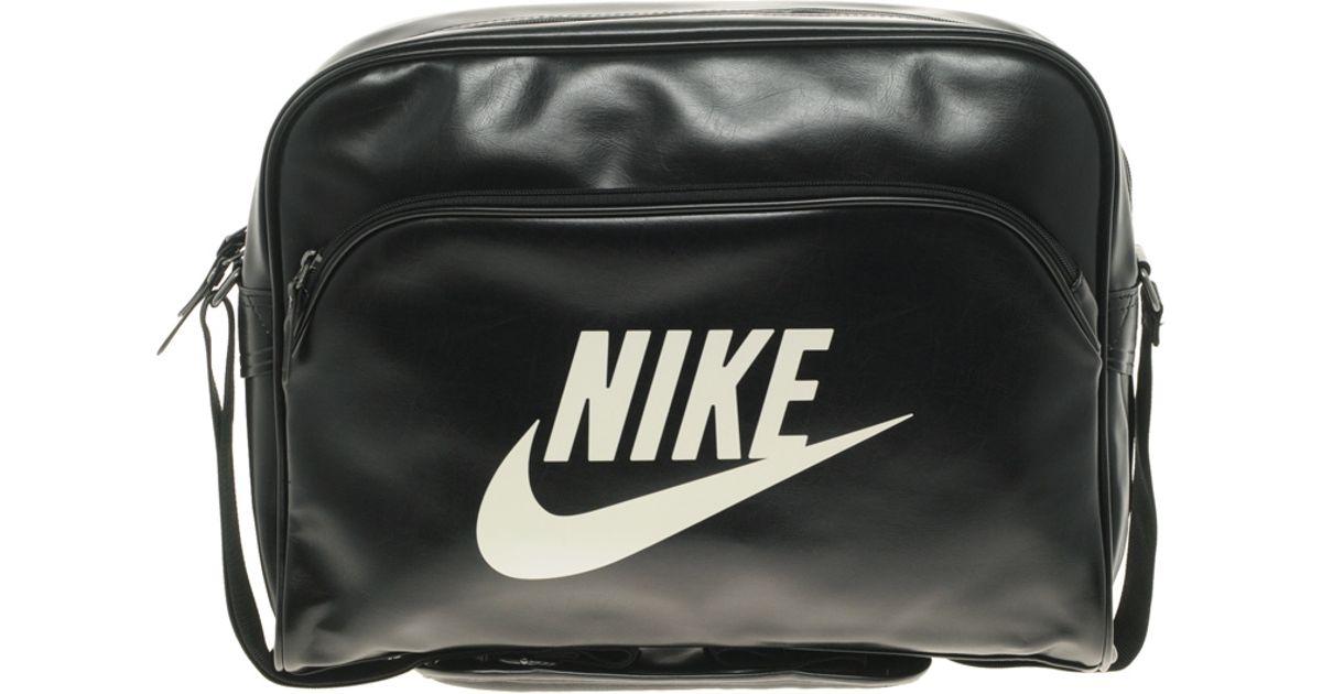 Lyst - Nike Heritage Messenger Bag in Black for Men 3162f8643f57