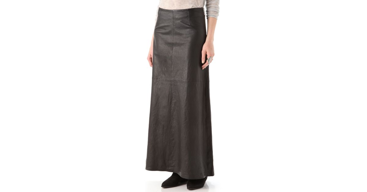 5d335cb4bf61d6 J Brand Cameo Leather Maxi Skirt in Black - Lyst