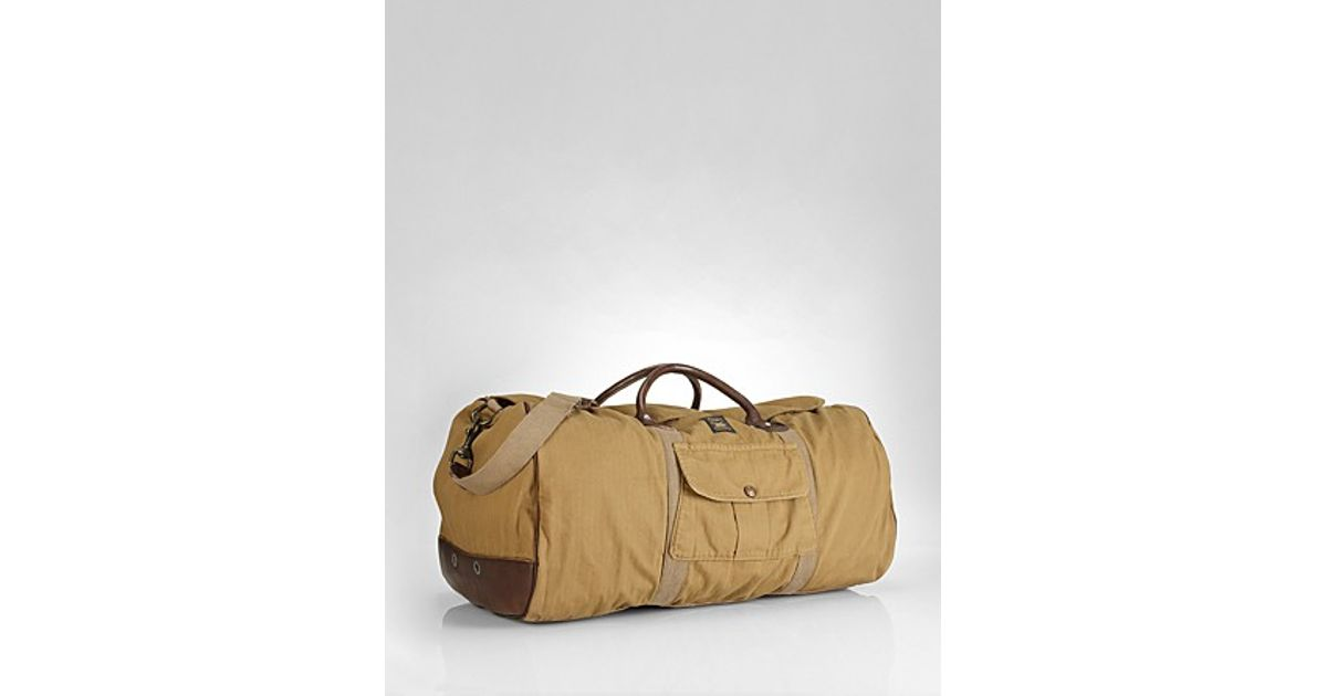Lyst - Ralph Lauren Collection Accessories Cotton Mohawk Duffle Bag in  Natural for Men e28845bd899a4
