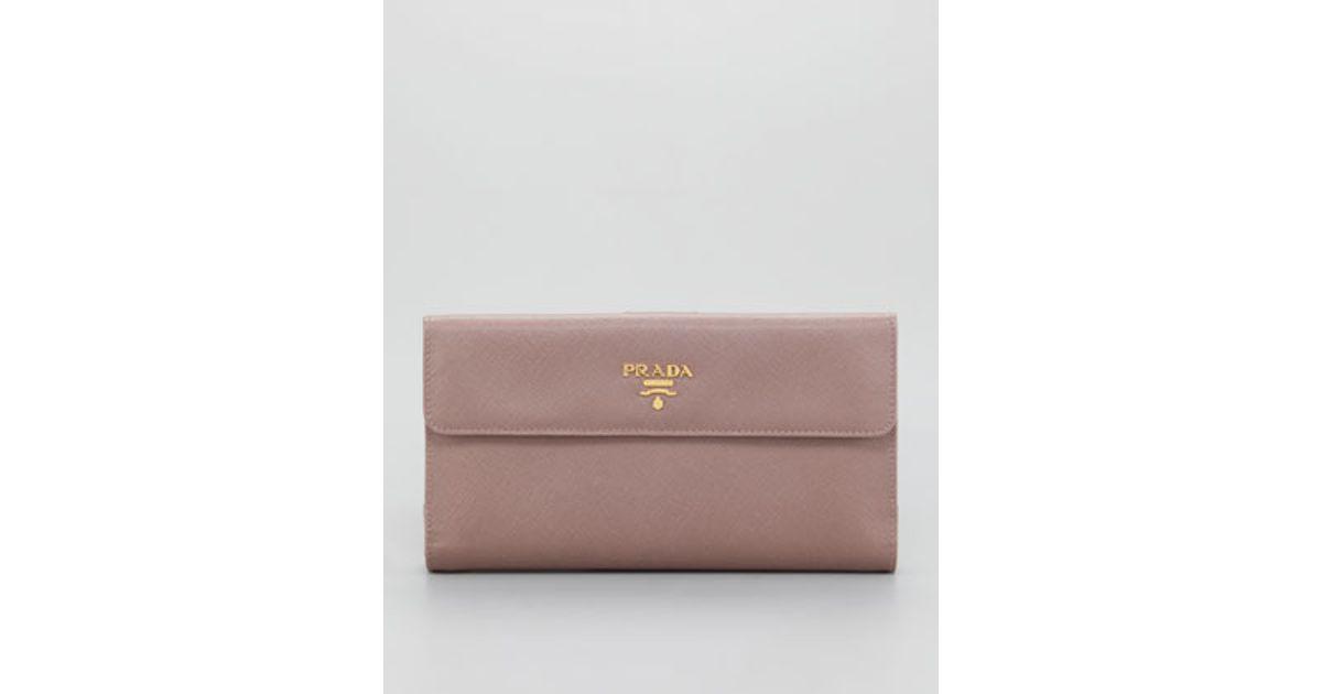 saffiano chain crossbody wallet prada - Prada Saffiano Continental Wallet Large in Brown (grafite) | Lyst