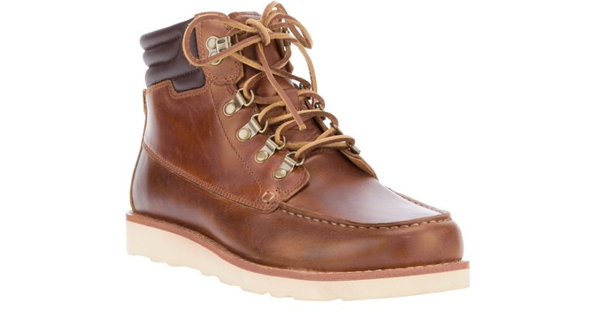 7f33173eba99 Lyst - Timberland Abington Scout Leather Lace Up Boot in Brown for Men