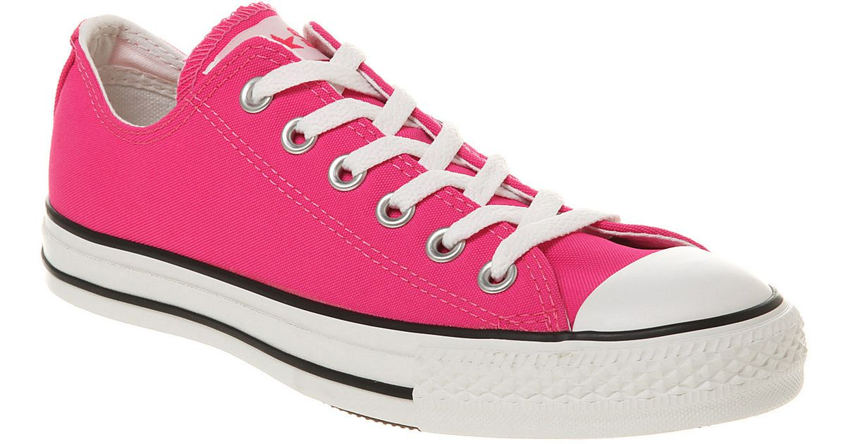 4f4a195531c9 ... good lyst converse ox low neon pink in pink for men 678a5 5c892