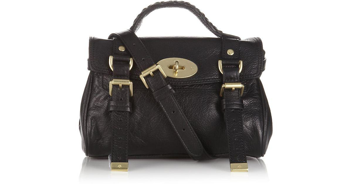 cb744e792f Mulberry Mini Alexa Crossbody Bag in Black - Lyst