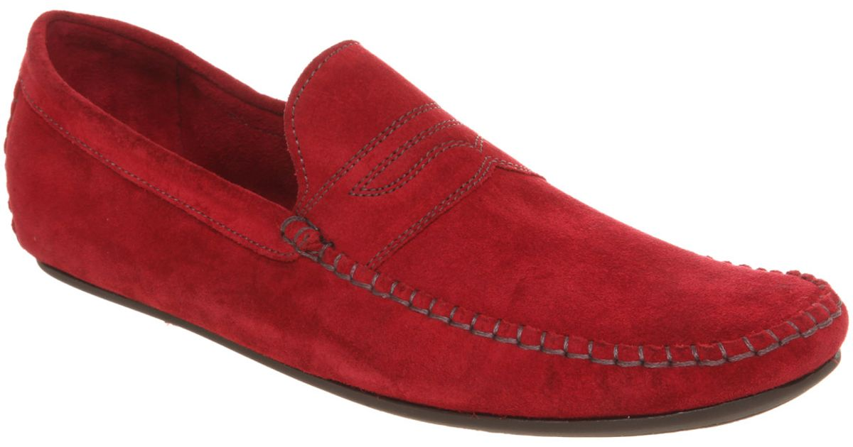 e822cb6f0 Lyst - Ted Baker Ss10 Suds Washable Driver Red Wshd Suede in Red for Men