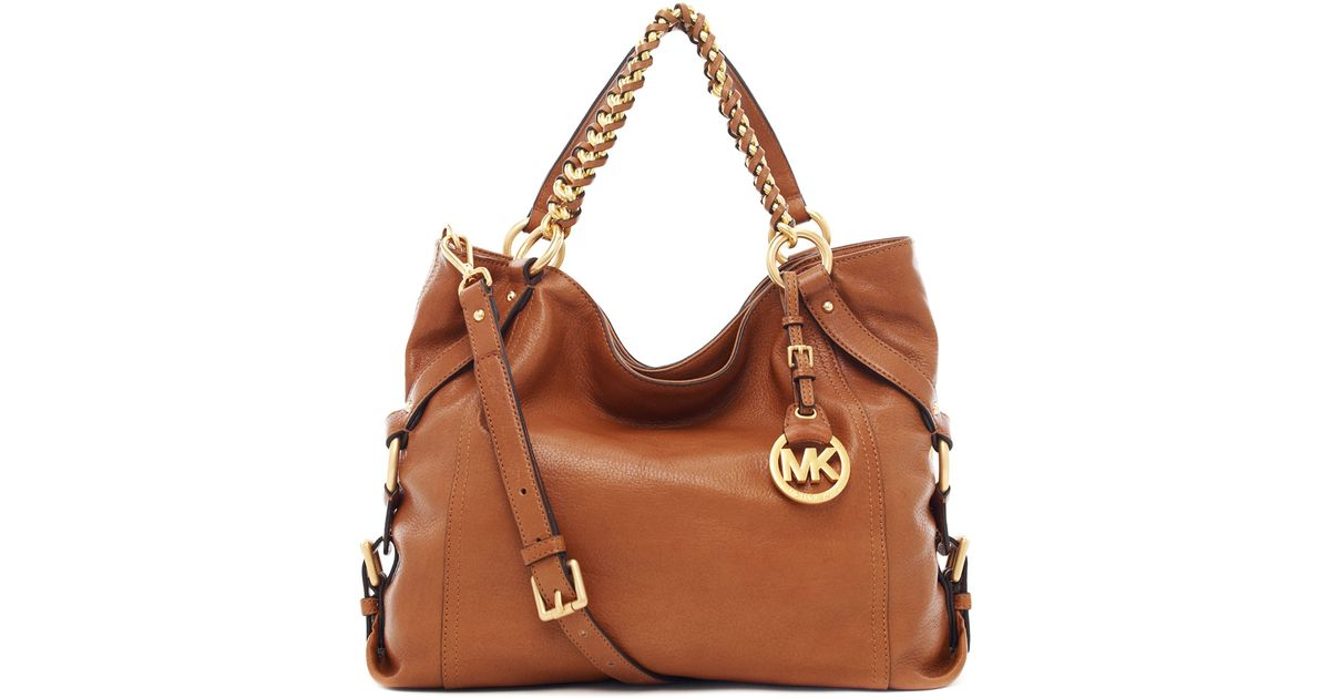 9e90f86267 ... hot lyst michael michael kors tristan large shoulder tote bag in brown  fa818 d928a