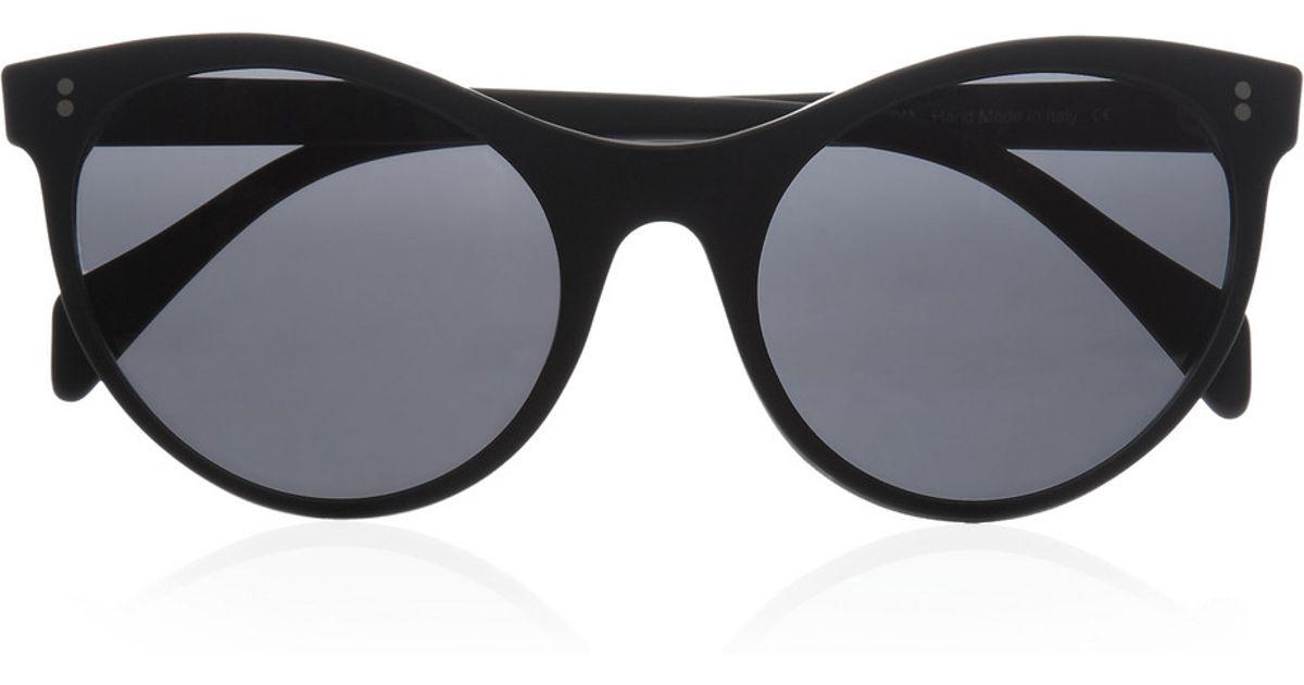 9ed18e4ed59 Lyst - Illesteva Claire Cat Eye Matteacetate Sunglasses in Black