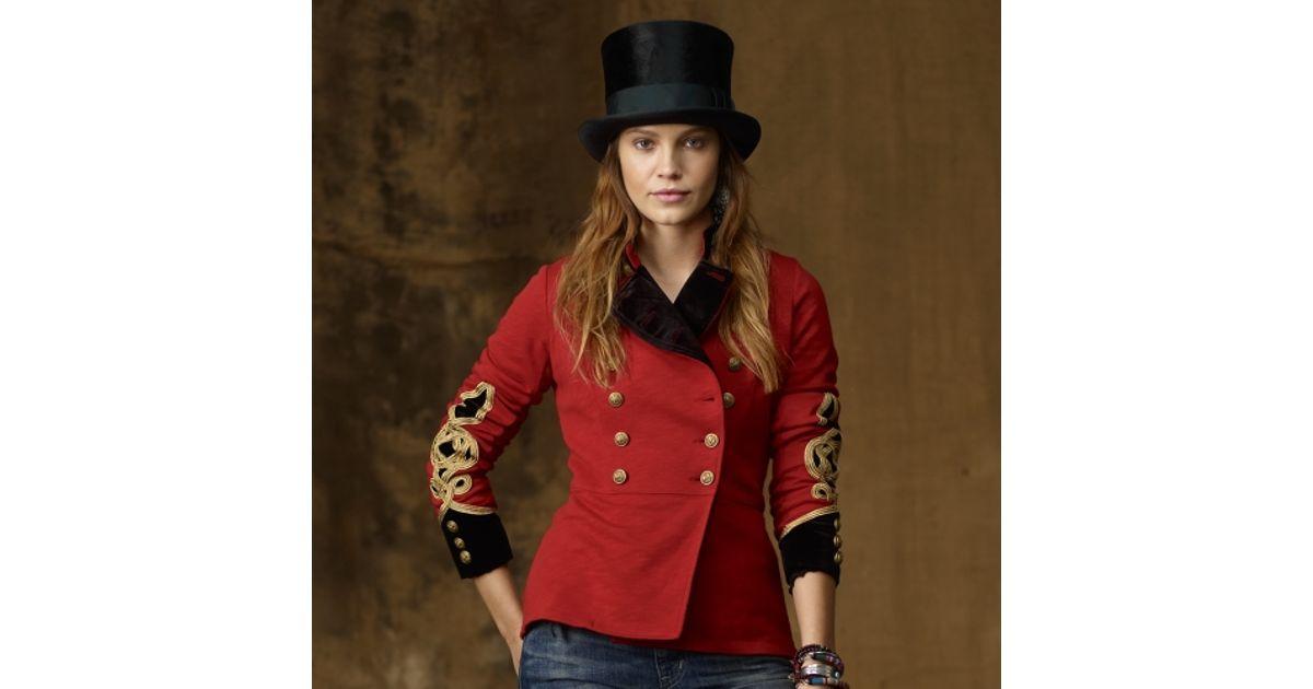 4dda4f60bb5 Lyst - Ralph Lauren Bohemian Military Jacket in Red