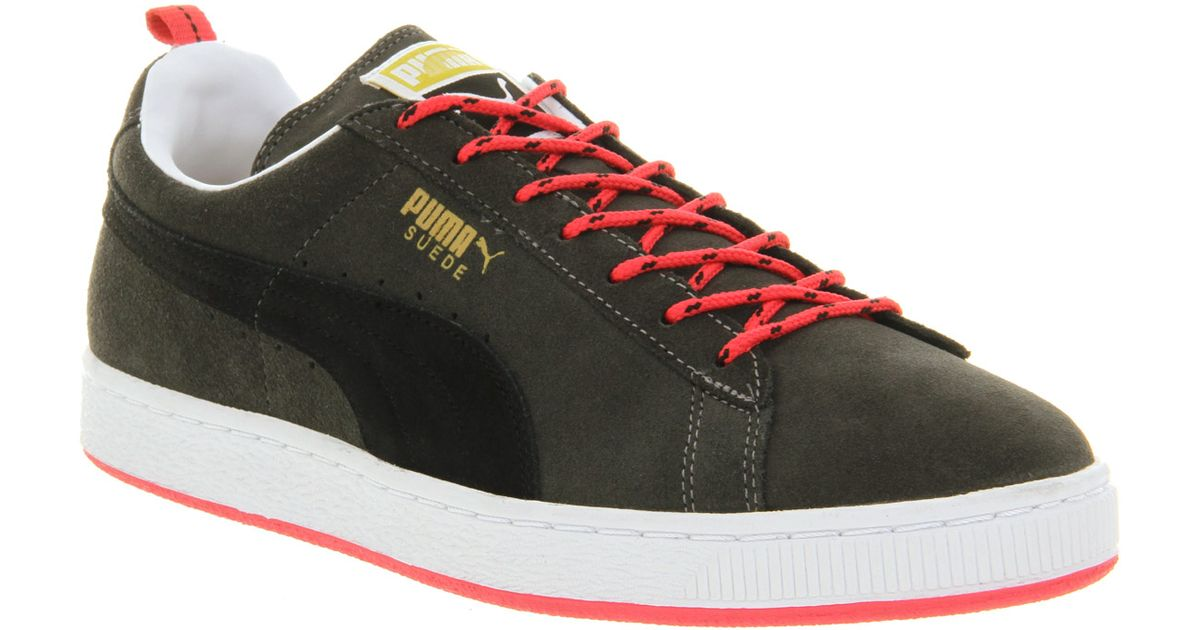 low priced 006d8 afbff PUMA - Green Suede Classic Dark Shale Black Red Trail for Men - Lyst