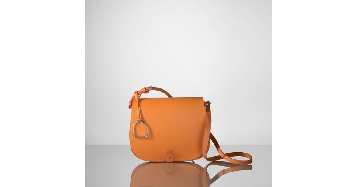Lyst - Ralph Lauren Vachetta Saddle Shoulder Bag in Orange 7ea3377caf163