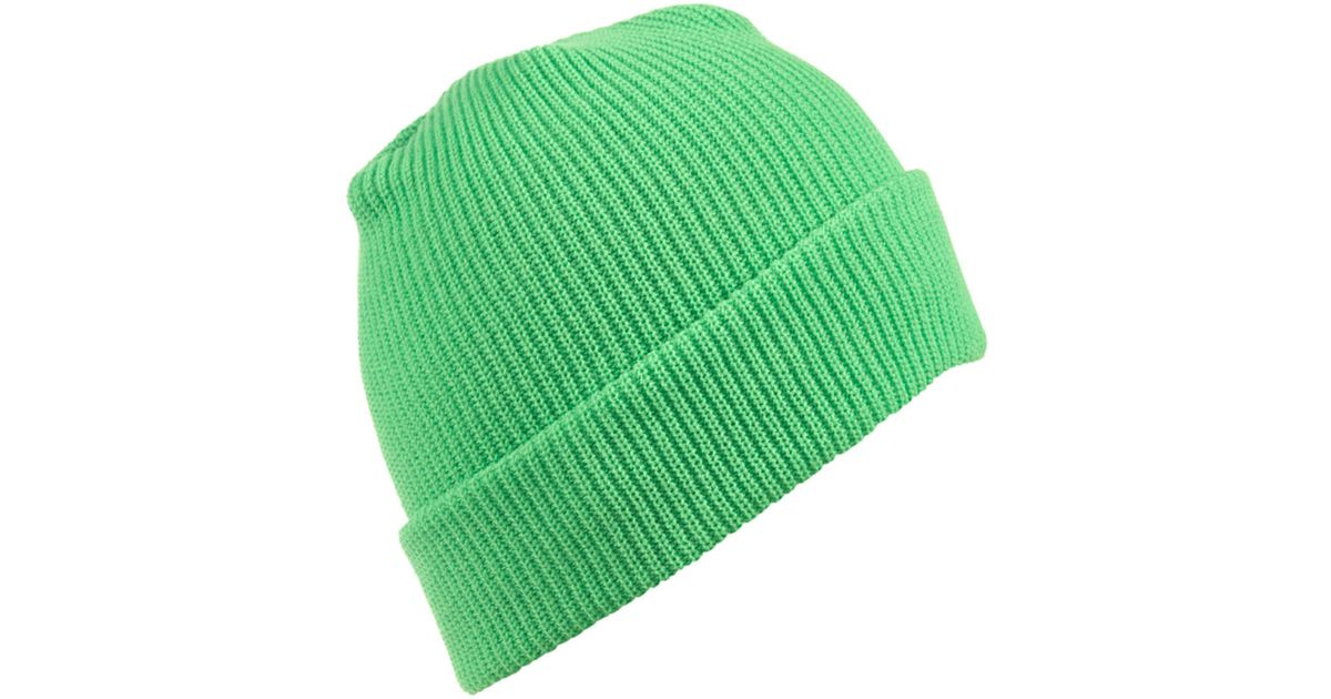 Topman Neon Green Beanie in Green for Men - Lyst bdfbcbfcaaf