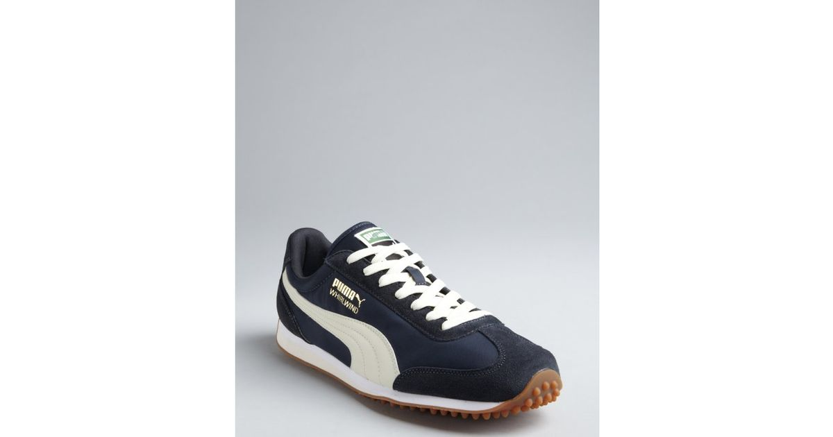 f75987a04cb407 Lyst - Puma Navy and Cream Nylon Whirlwind Classic Striped Sneakers in Blue  for Men