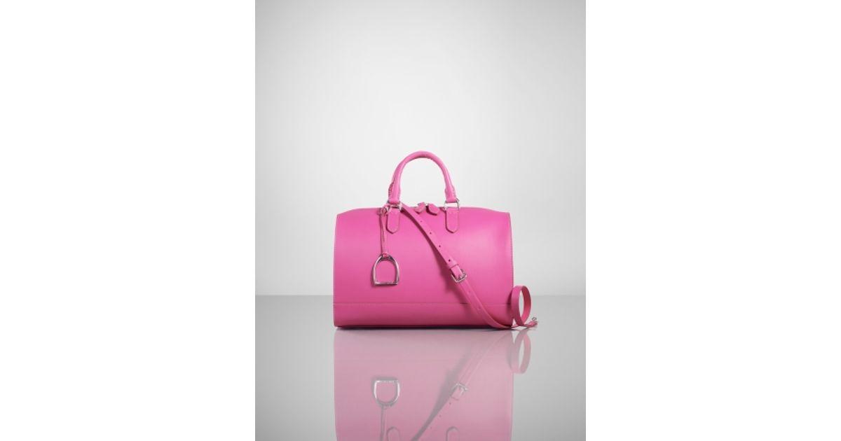 4aff430abb Ralph Lauren Vachetta Stirrup Boston Bag in Pink - Lyst
