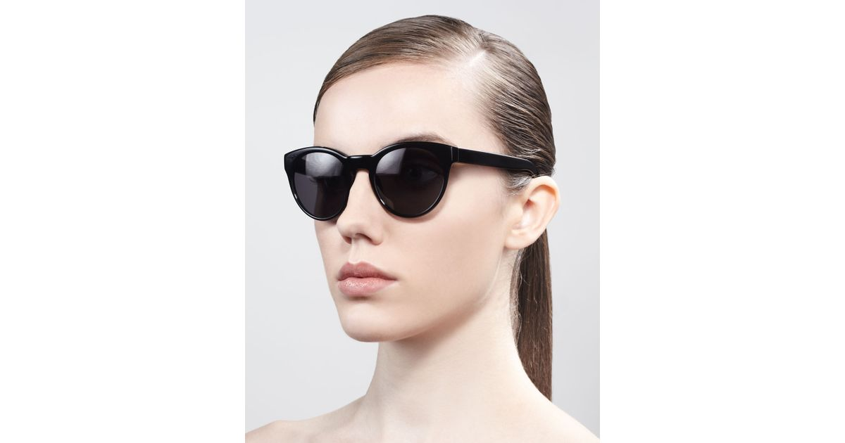 9612bcfbcb9 Lyst - Oliver Peoples Alivia Cateye Sunglasses in Black
